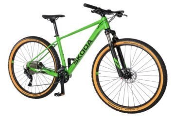 zelený bicykel ŠKODA